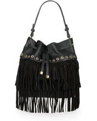 Sondra Roberts - Studded Fringe Bucket Bag - Lyst