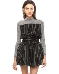 Pixie Market Madison Pin Stripe Sweater Dress - Lyst