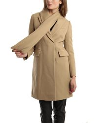 3.1 Phillip Lim Detachable Scarf Single Breasted Wool Coat - Lyst