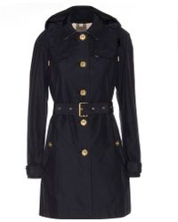 Burberry Brit - Levinford Hooded Cottonblend Trench Coat - Lyst