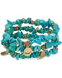 Sequin - Colour Karma Spirit Feather Bracelets, Set Of 3 - Lyst