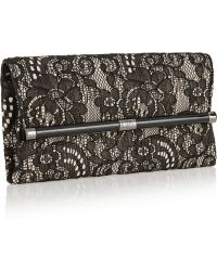 Diane Von Furstenberg 440 Envelope Lace and Crepe Clutch - Lyst