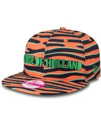House of Holland Orange Zebra New Era Cap orange - Lyst