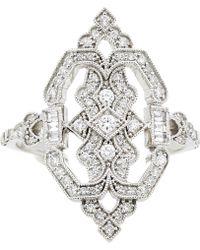 Stone - Garbo Shield Ring - Lyst