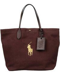 Ralph Lauren Brown Handbag - Lyst