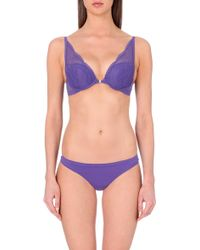Calvin Klein Perfectly Fit Lace Plunge Bra - For Women - Lyst