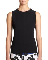 Narciso Rodriguez Scuba Cut-out Top - Lyst