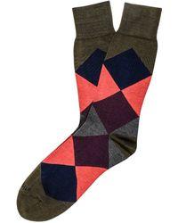 Etiquette - Harlequin Socks - Lyst
