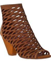 Jeffrey Campbell Produce Ankle Boot Tan Suede - Lyst