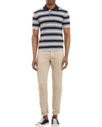 Michael Kors Border Stripe Polo - Lyst