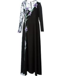 Nina Ricci Floral Embroidered Gown - Lyst