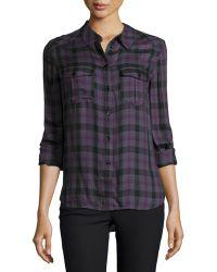 Paige Mya Long-sleeve Plaid Shirt - Lyst