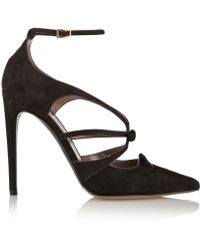 Tabitha Simmons Bow Suede Pumps - Lyst