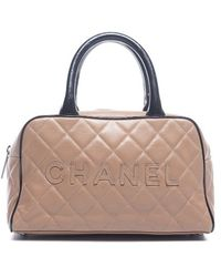 Chanel Caviar Quilted Mini Bowler Bag - Lyst
