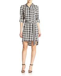 Diane von Furstenberg Prita Stretch-Silk Gingham Shirt Dress - Lyst