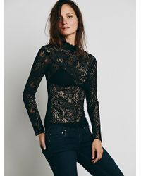 Free People Victorian Lace Turtlneck - Lyst