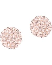 Swarovski Blow Rose Goldtone Stud Earrings gold - Lyst