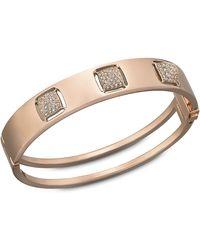 Swarovski Tactic Crystal Spike And Rose Gold-Tone Bangle Bracelet - Lyst