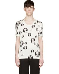 Dolce & Gabbana Off_White Iconic Marilyn Monroe T_Shirt - Lyst