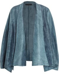 Donna Karan - Draped Ramie And Silk-blend Organza Jacket - Lyst