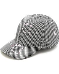 Carven Petals On The Ground Check Cap - Lyst
