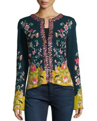 Michael Simon - Embroidered Folkloric Cardigan - Lyst
