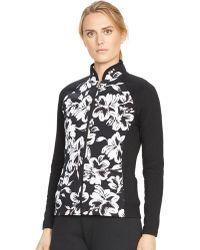 Lauren by Ralph Lauren Petite Floral-Print Track Jacket - Lyst