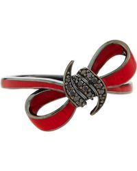 Stephen Webster Red Bow & Black Sapphire Ring - Lyst
