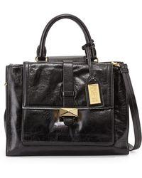 Badgley Mischka Lena Shiny Leather Tote Bag - Lyst