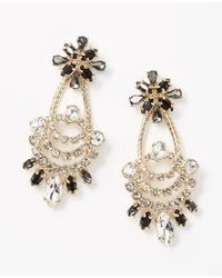 Ann Taylor Mixed Stone Statement Earrings - Lyst