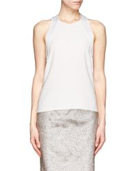 J Brand Back Zip Tank Top - Lyst