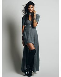 Free People Sunlit Gown Maxi - Lyst