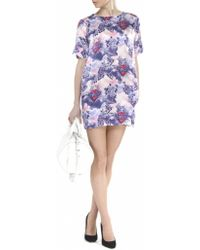 House Of Holland Sacred Heart Silk Shift Dress - Lyst