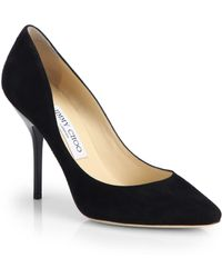 Jimmy Choo Mitchell Suede Point Toe Pumps - Lyst
