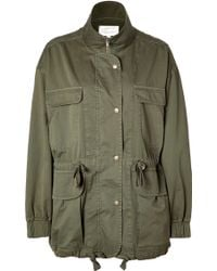 Current/Elliott Cotton Parka - Lyst
