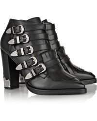 Toga Pulla Embellished Leather Ankle Boots - Lyst