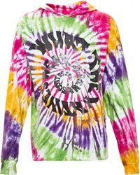 Jeremy Scott Tie Dye Hooded Sweatshirt - Lyst