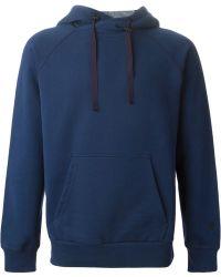 Alexander McQueen Blue Hooded Sweatshirt - Lyst