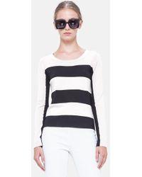 Akris Punto Stripe Virgin Wool Sweater - Lyst