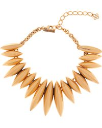 Oscar de la Renta Multi Spear Disc Necklace - Lyst