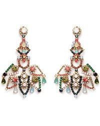 J.Crew | Crystal Lace Earrings | Lyst
