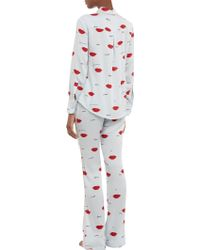 Piamita - Piped Lipsprint Nan Pyjama Trousers - Lyst