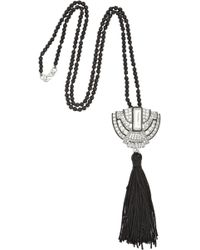 Kenneth Jay Lane Rhodiumplated Crystal Necklace - Lyst