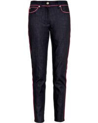 Moschino Contrast-piping Skinny Jeans - Lyst