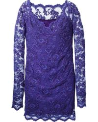 Balensi Lace Fitted Dress - Lyst