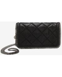 Stella McCartney Falabella Quilted Flap Front Crossbody - Lyst