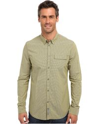 Calvin Klein Jeans Warm Olive Ls Woven Check Shirt - Lyst
