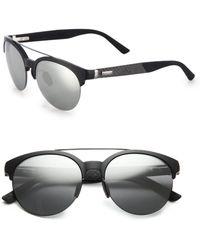 Gucci 55Mm Round Sunglasses black - Lyst