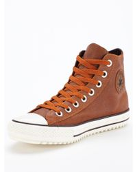 Converse Ctas Mens Leather Boots - Lyst