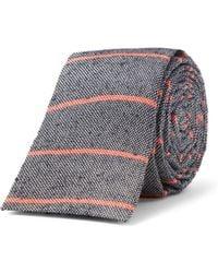 A.P.C. - Striped Slub Wovensilk Tie - Lyst